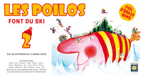 Les Poilos font du ski . POBB 2018