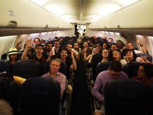 Dans l'avion pour Istanbul