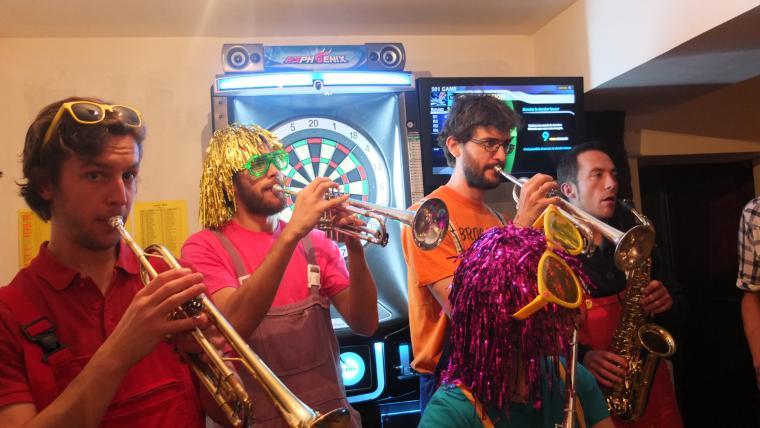 David Bruno et Jezz aux trompettes
